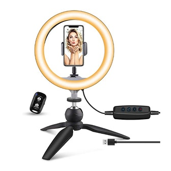 UBeesize Ring Light with Tripod Stand & Phone Holder