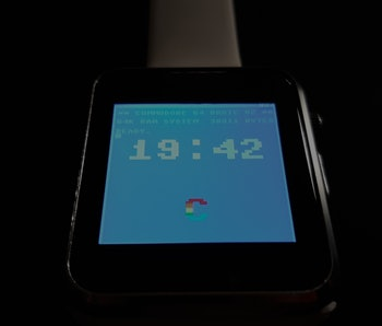 Someone created a smartwatch that can run BASIC programs.