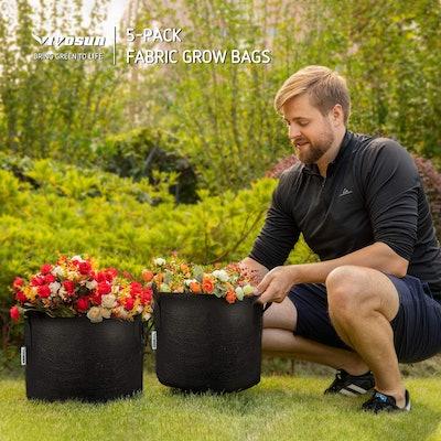 VIVOSUN Gallon Grow Bags (5-Pack)