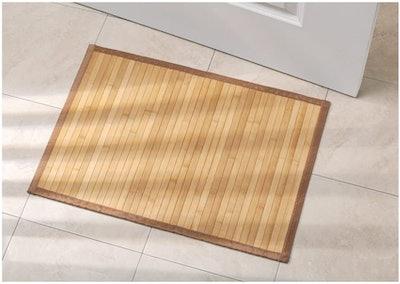 iDesign Bamboo Floor Mat