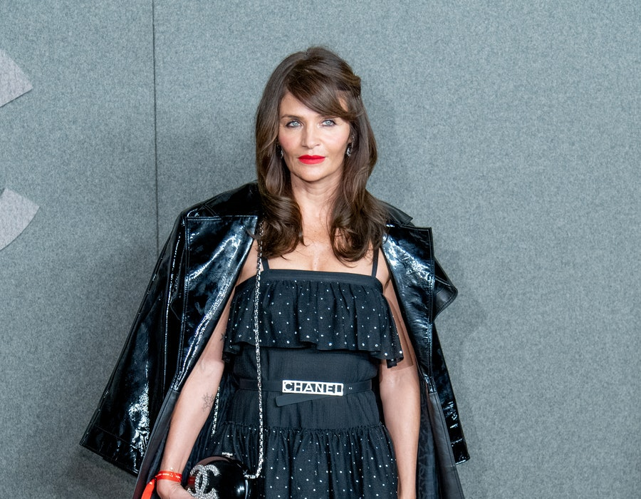 Helena Christensen attends the Chanel Metiers D'Art 2018/19 Show at The Metropolitan Museum of Art on December 4, 2018 in New York City.