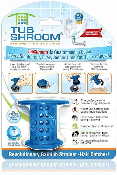 TubShroom Revolutionary Tub Drain Protector & Hair Catcher