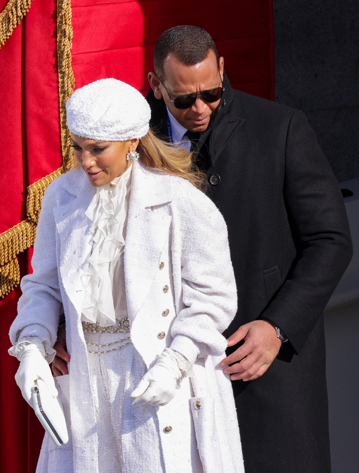 Jennifer Lopez wore an all-white Chanel outfit to President Joe Biden's inauguration.