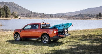 Ford just unveiled the Maverick, a compact hybrid pickup truck.