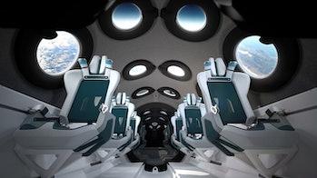 Virgin Galactic's cabin interior.