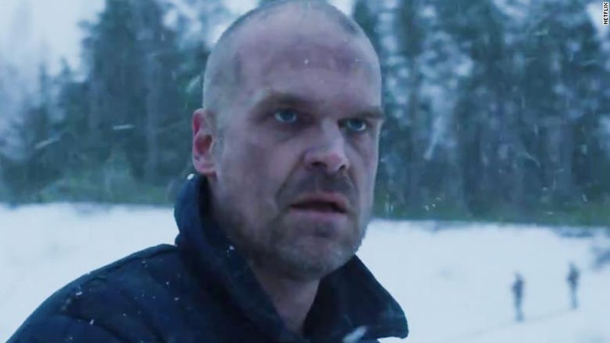 David Harbour as Chief Hopper in one of the few images available for 'Stranger Things' Season 4