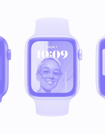 An Apple Watch running watchOS 8.