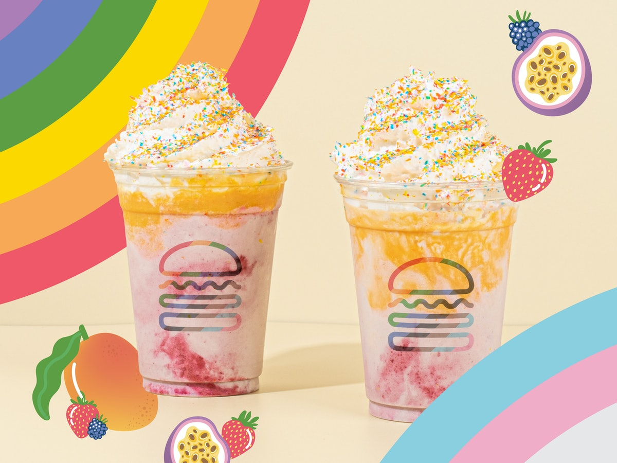Shake Shack's Pride 2021 Shake donates 5% of the proceeds to The Trevor Project.
