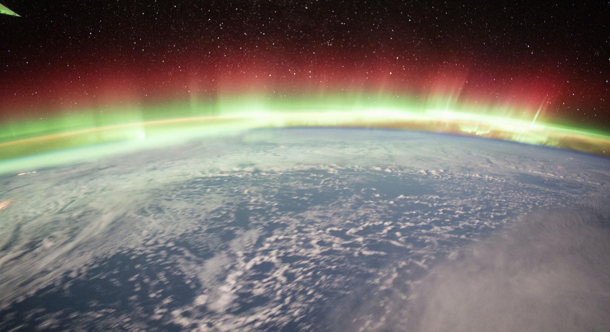 A brilliant and vivid Aurora Borealis illuminates the Earth's northern hemisphere on Jan 20, 2016, p...