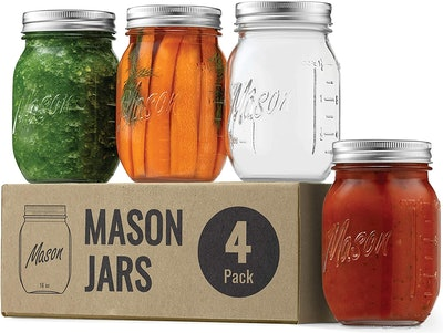 Regular Mouth Mason Jars (4-Pack)