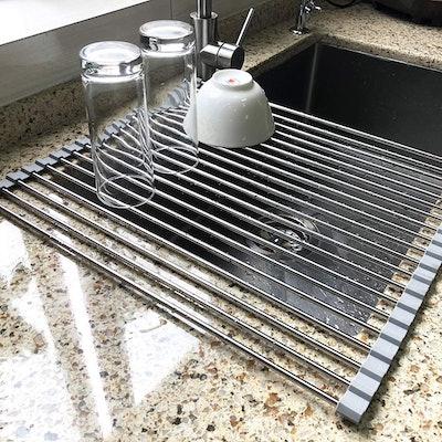 "Attom Tech Home Roll Up Dish Drying Rack (17.7"" x 15.5"")"