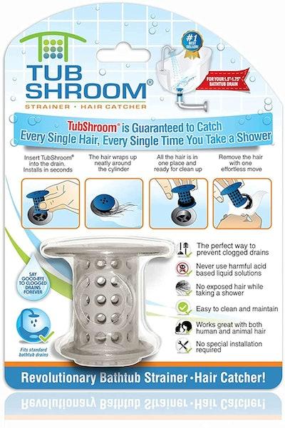 TubShroom Tub Hair Catcher Drain Protector