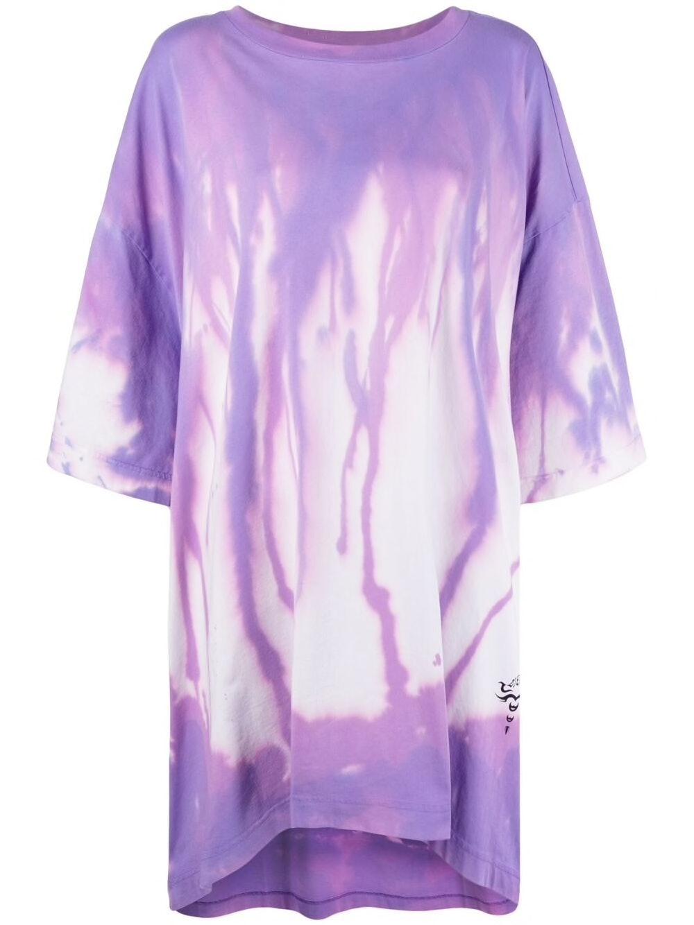 Diesel oversized tie-dye T-shirt dress
