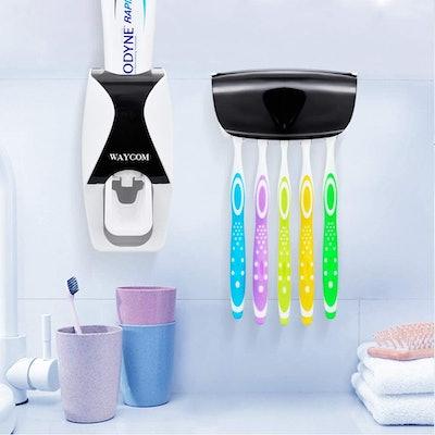 WAYCOM Dust-Proof Toothpaste Dispenser Kit