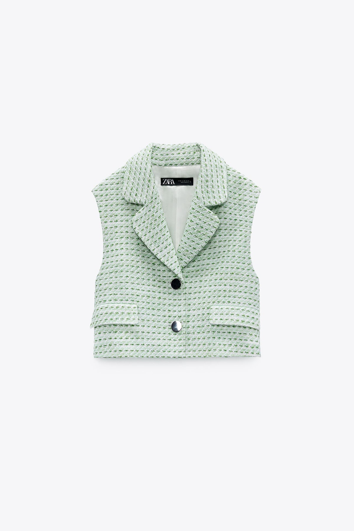 Short Textured Waistcoat