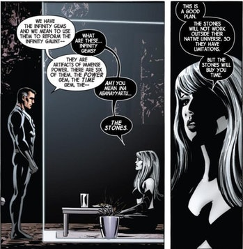 Reed Richards learns about the Infinity Gems/Stones