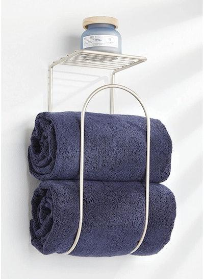 mDesign Modern Towel Rack Organizer