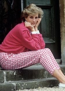 Princess Diana wearing pink