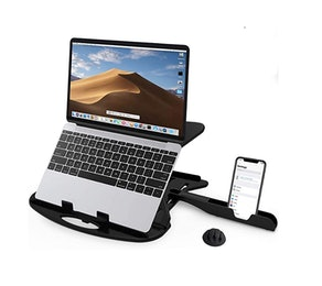 CARNATION Laptop Stand with Phone Holder and Cable Clip