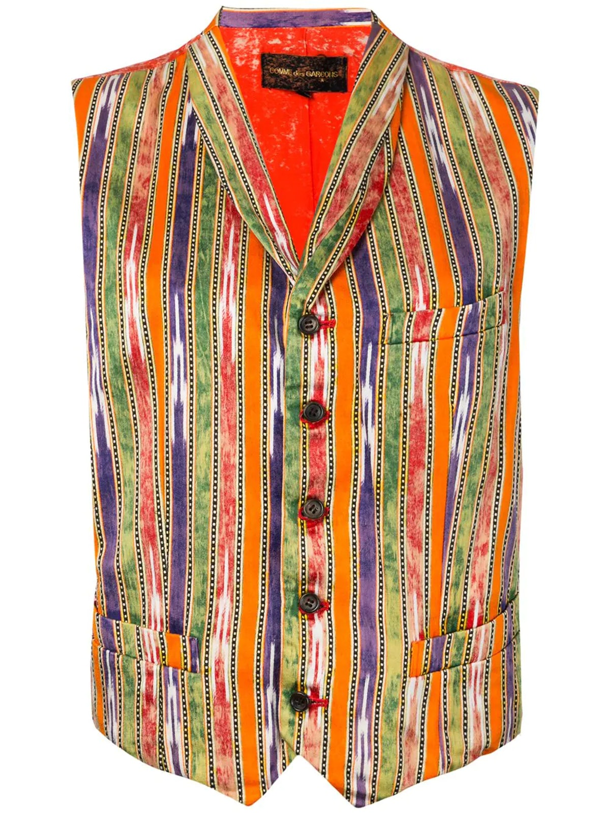 Pre-Owned Bleached Back Striped Waistcoat