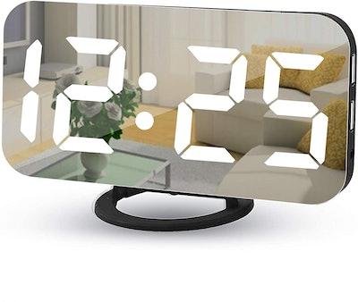 Poeroa LED Mirror Alarm Clock