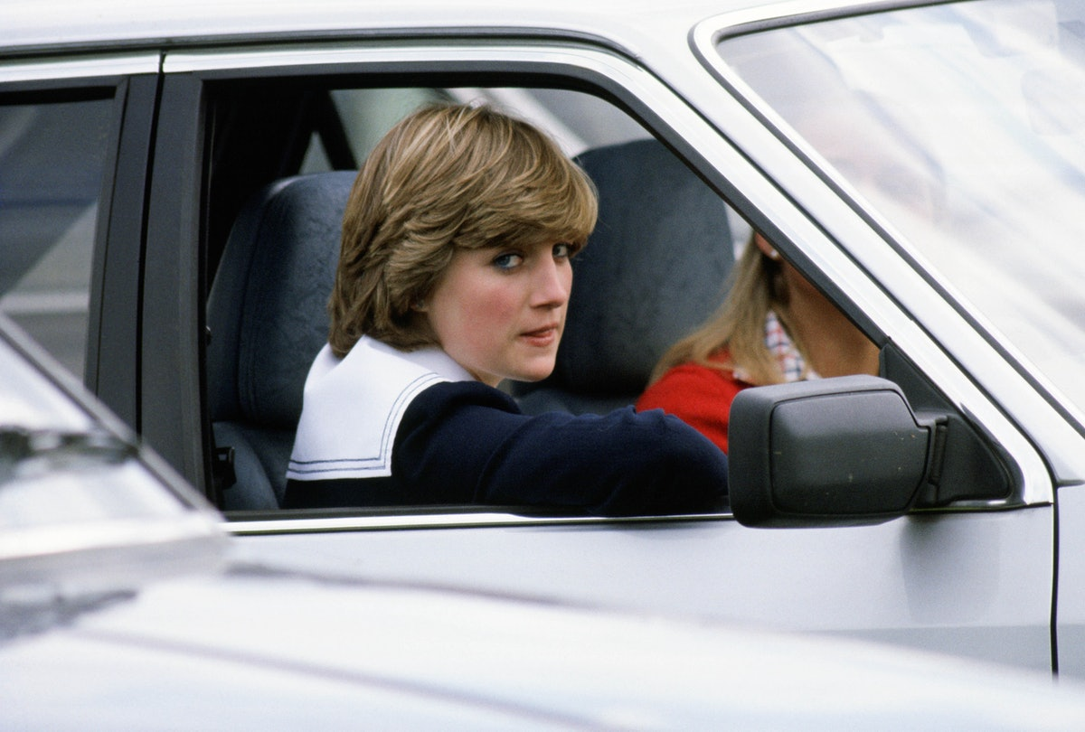 Princess Diana in her 1981 Ford Escort