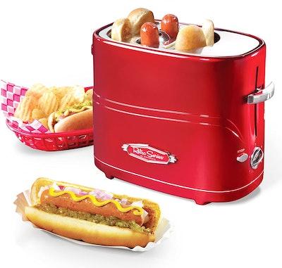 Nostalgia Pop-Up 2-Hot Dog & Bun Toaster