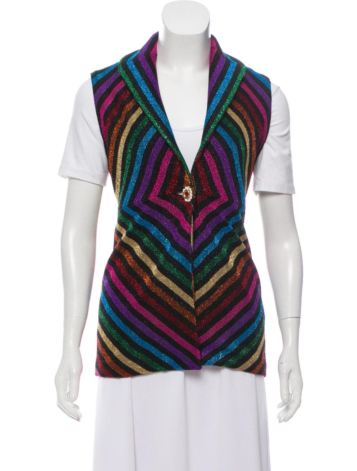 017 Rainbow Sleeveless Waistcoat