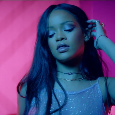"""Rihanna in the 2016 """"Work"""" music video featuring Drake"""