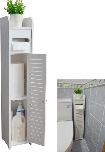 AOJEZOR Storage Corner Floor Cabinet