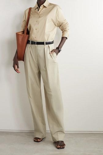 Igor Pleated Crepe Wide-Leg Trousers