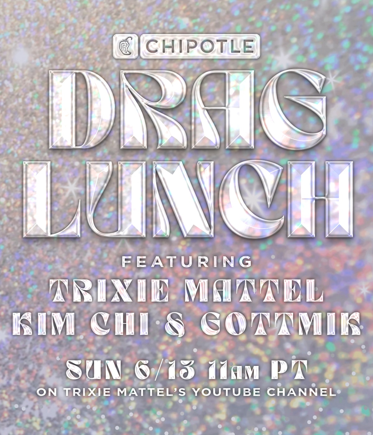 You can attend Chipotle's June 13 Drag Brunch with Trixie Mattel and score a free entrée.