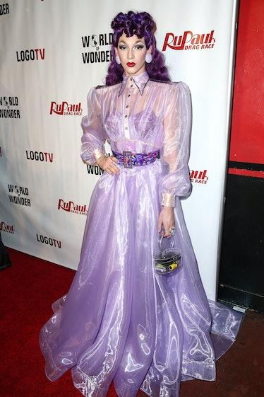 Violet Chachki in purple.