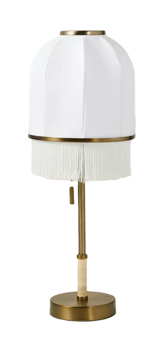 Euclid Fabric Table Lamp with USB