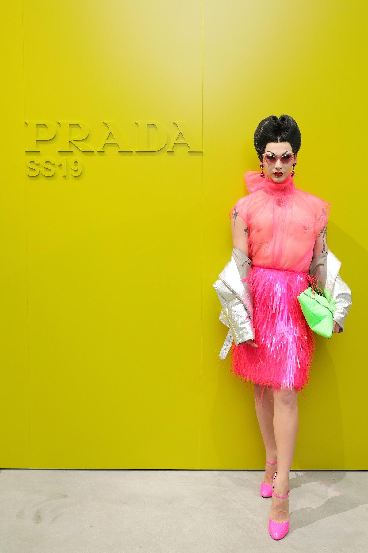 Violet Chachki in Prada.