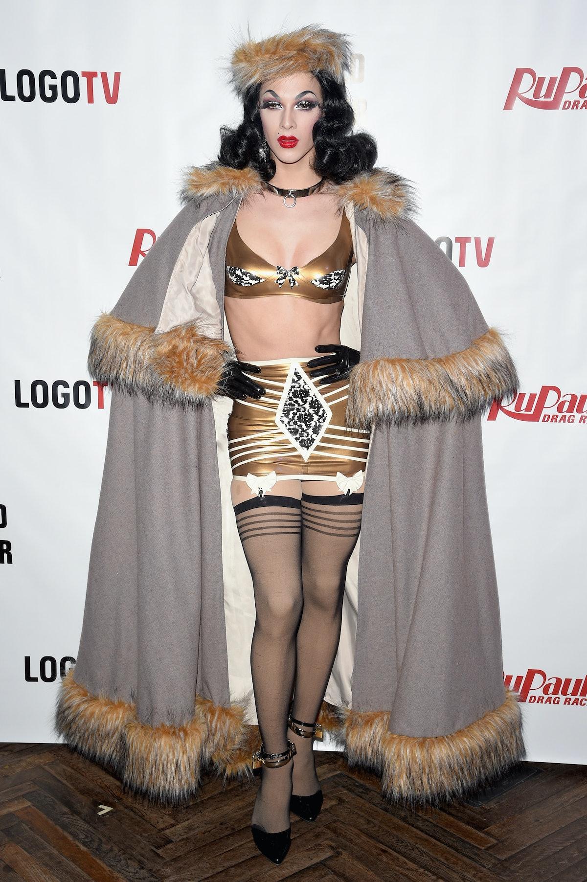 Violet Chachki in fur.