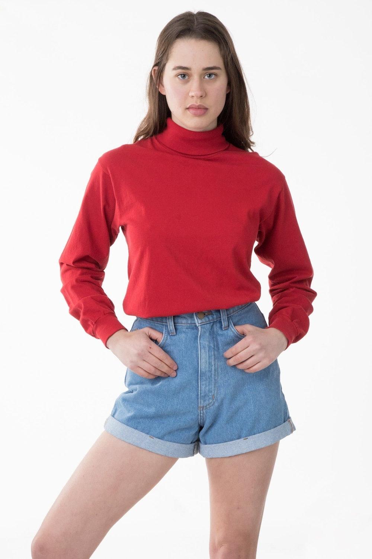 Long Sleeve Garment Dye Turtleneck