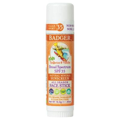 Badger - SPF 35 Clear Zinc Kids Sunscreen Stick