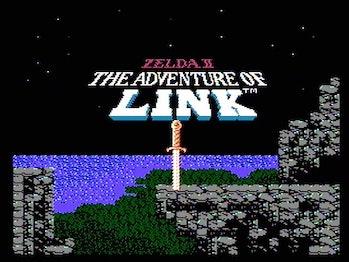 zelda 2 the adventure of link title screen