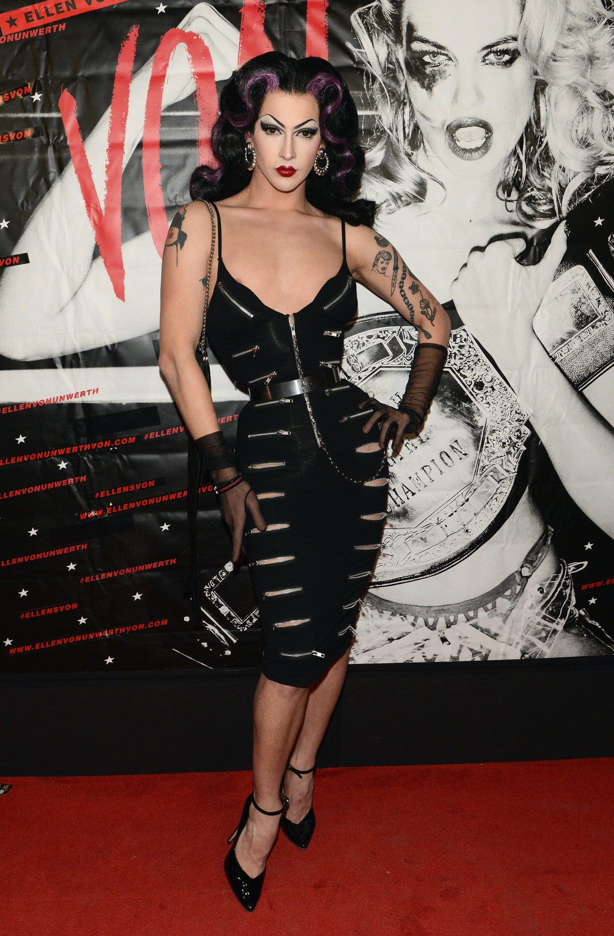 Violet Chachki on red carpet.