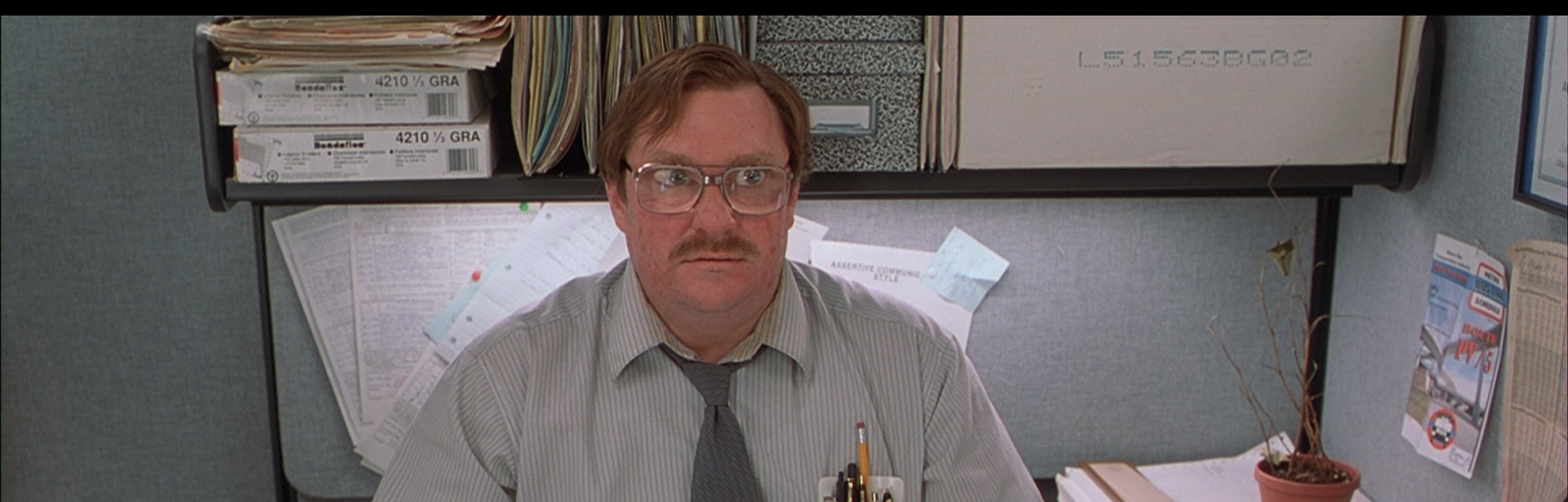 a still of milton from office space
