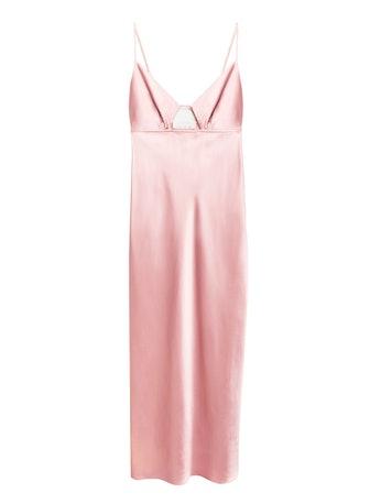 Keyhole Bias Slip Dress