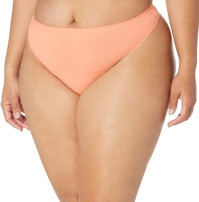 Amazon Essentials Plus-Size Cotton Stretch Thong Underwear (6-Pack)
