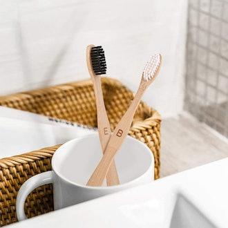 Nuduko Biodegradable Bamboo Toothbrushes (10 Pack)