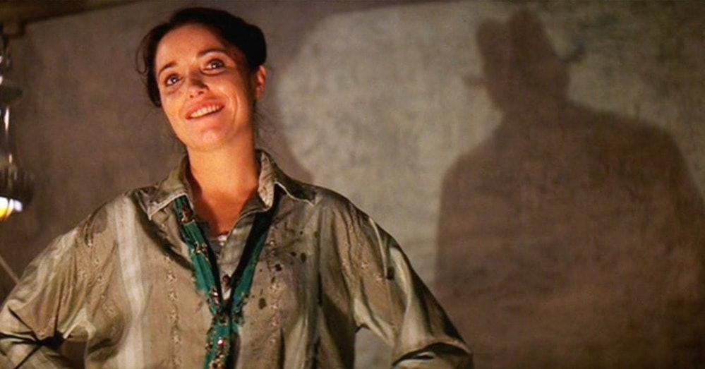 Karen Allen in Raiders of the Lost Ark.