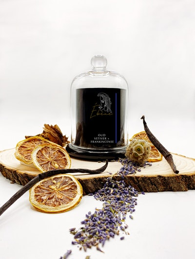 Oud Vetiver + Frankincense Candle