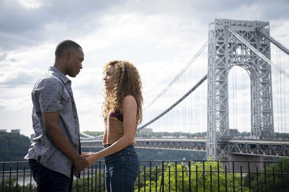 Corey Hawkins as Benny and Leslie Grace as Nina in 'In the Heights.'