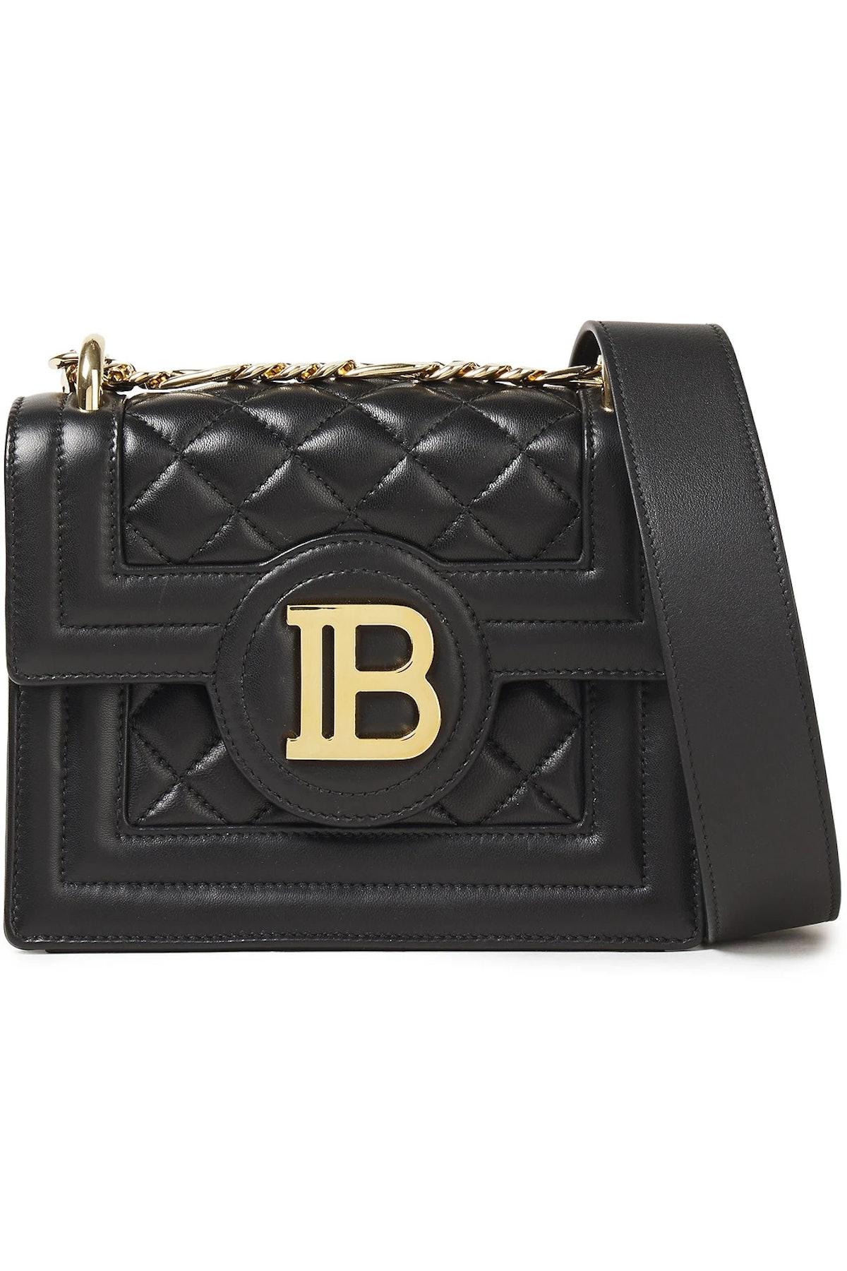 B Bag Quilted Leather Shoulder Bag