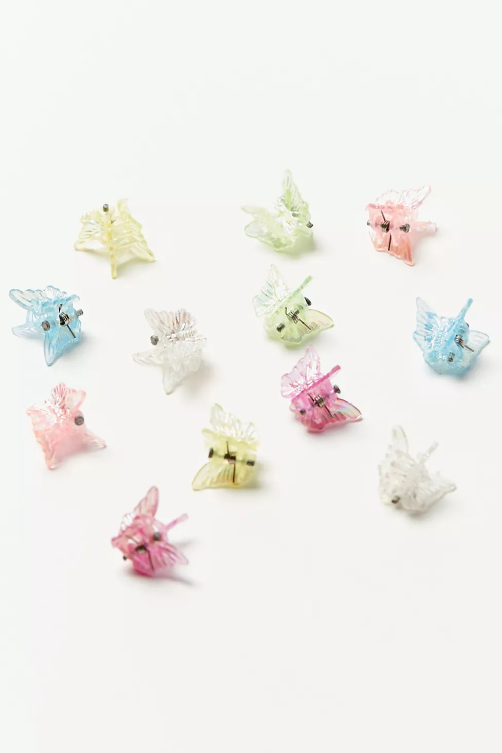 Vintage Colorful Mini Butterfly Clips