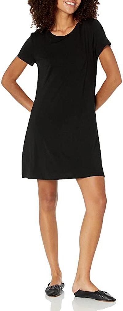 Amazon Essentials Short Sleeve Scoopneck A-line Shirt Dress